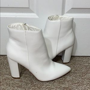 JustFab White Boots